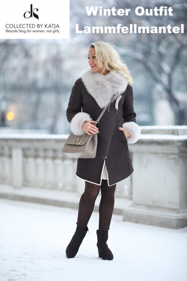Collected By Katja Winter Outfit Lammfellmantel